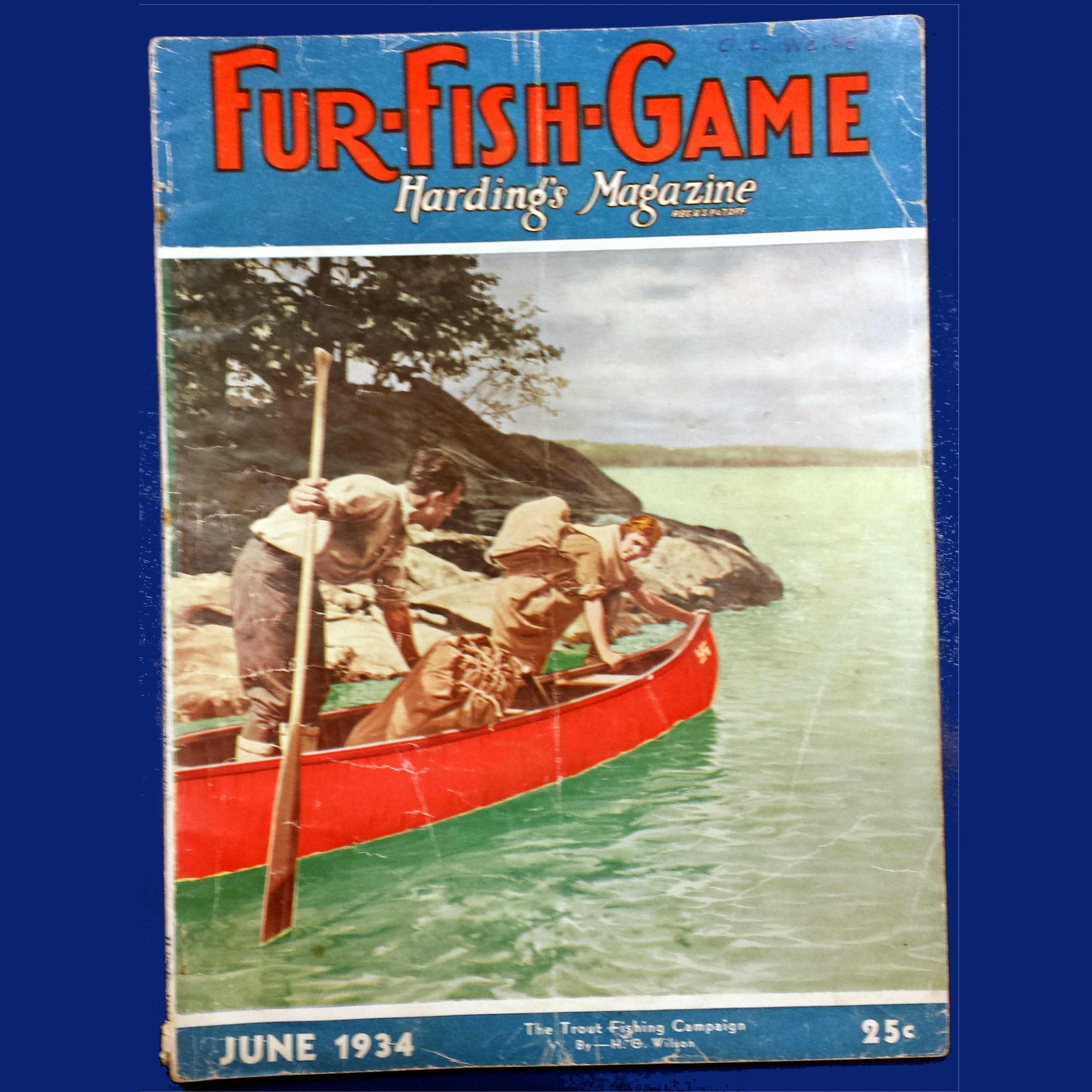 Fur fish game harding s magazine 1934 arthur robert for Fur fish and game